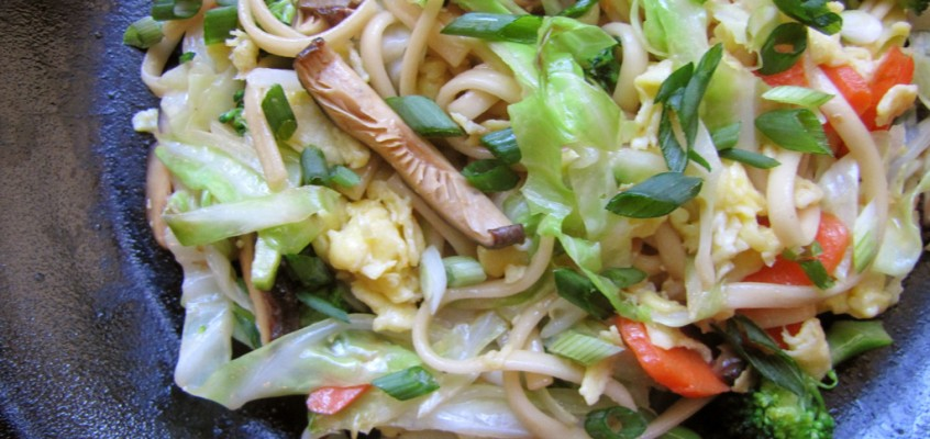 Stir-Fried Noodles with Winter Vegetables