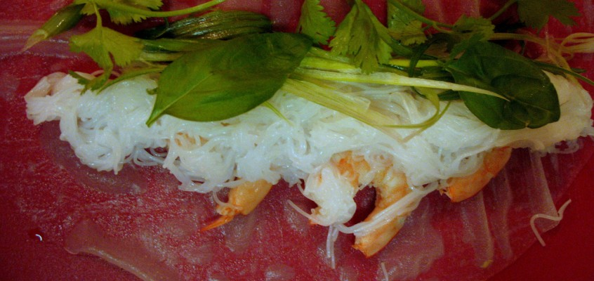 Vietnamese-Style Summer Rolls with Shrimp or Tofu