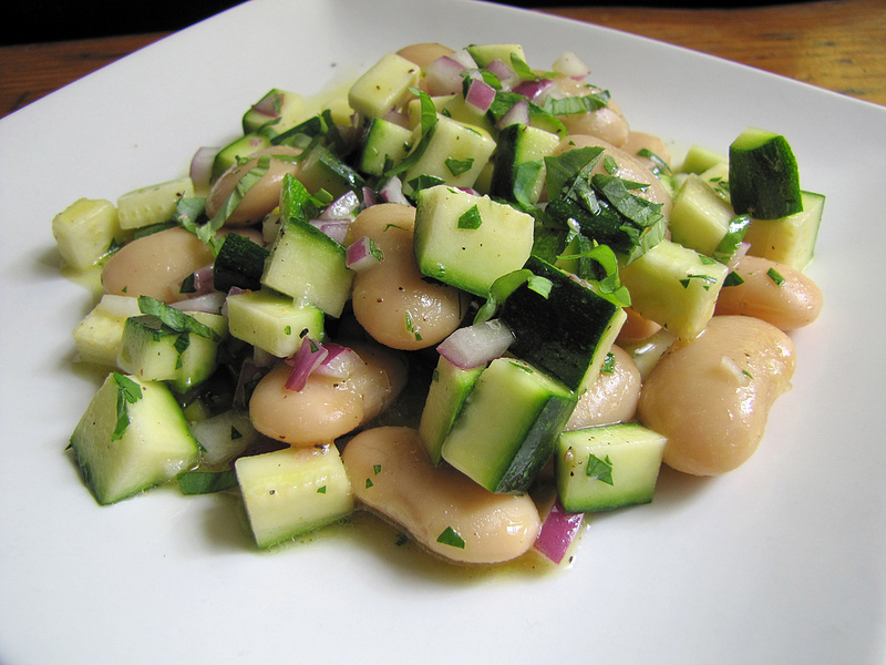 Fresh Zucchini and Broad Bean Salad