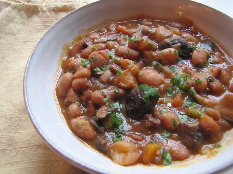 Winter Bean Stew With Smoked Paprika and Wild Mushrooms
