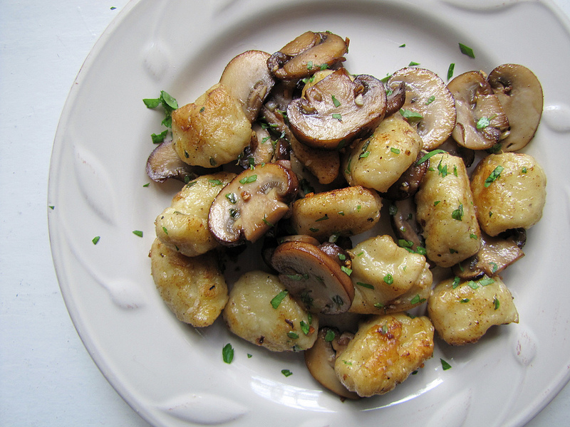 Parsnip Gnocchi with Crimini Mushrooms & Herbs