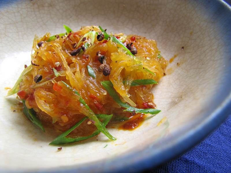 Sweet and Numbing-Hot Spaghetti Squash Salad