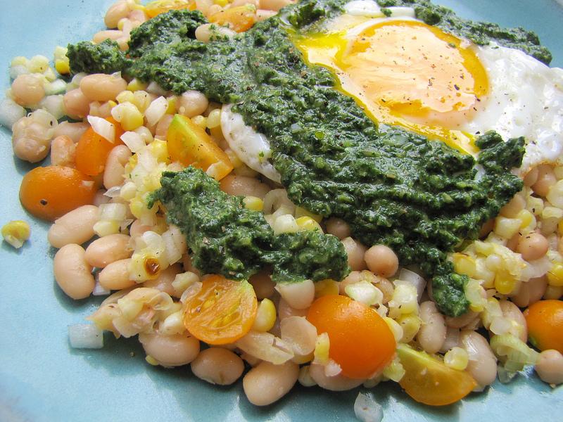 Stinging Nettle Salsa Verde with 'Good Eggs'