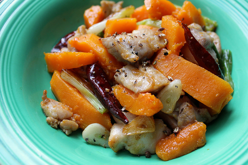 Kung Pao Chicken and Butternut Squash
