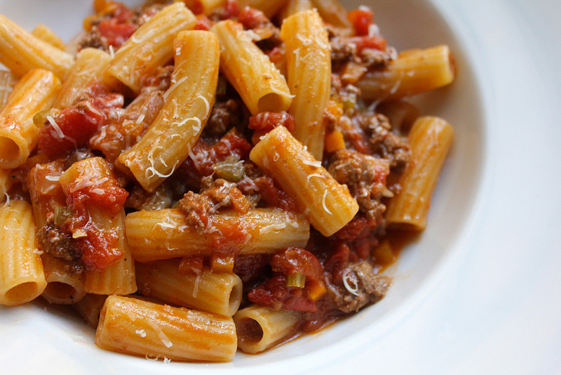 Hearty, Meaty Pasta Bolognese (and a failed attempt at a vegetarian version)