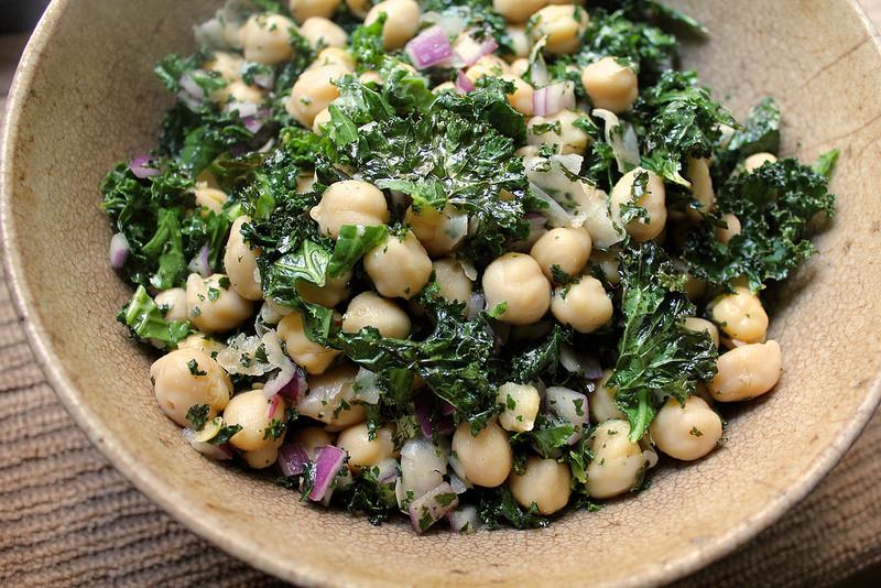 Chickpea and Roasted Kale Salad