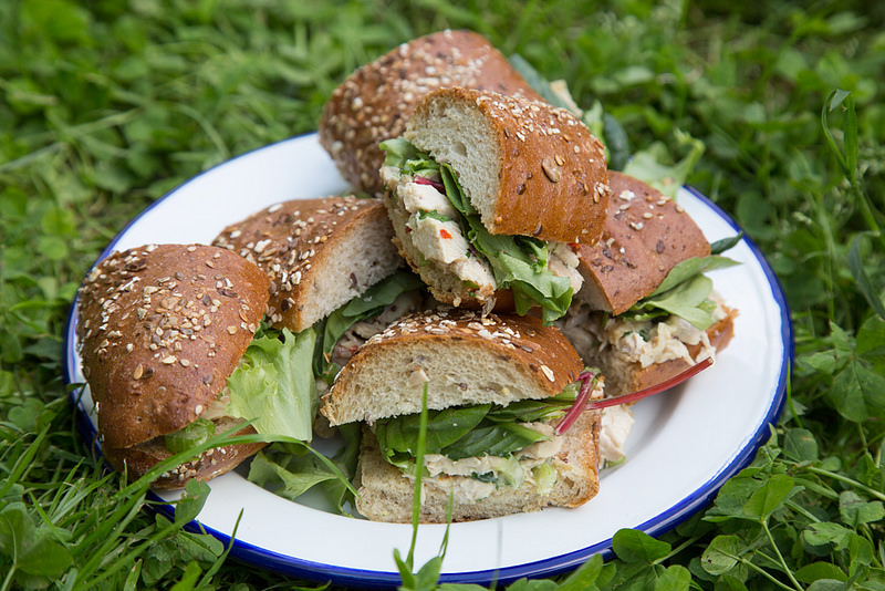 Cast-Iron Roasted Chicken Salad with Chicken Fat Aioli Sandwiches