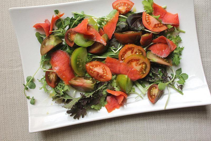 Fresh Tomato and Smoked Salmon Salad