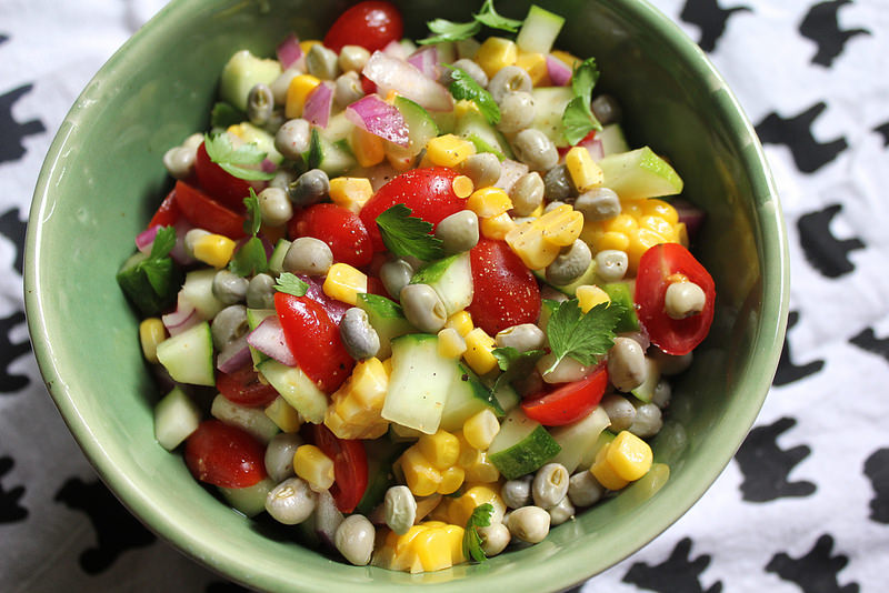 Summery Bean Salad with Freshly Shelled Cowpeas